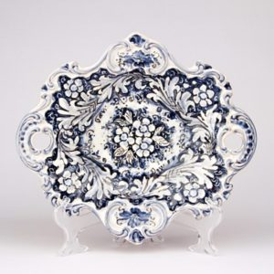Centrotavola con manici monocolore blu diametro 29