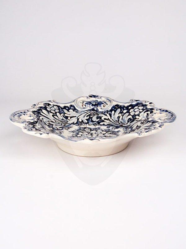 Centrotavola con manici monocolore blu diametro 29 fronte