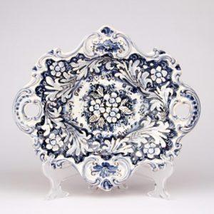 Centrotavola con manici monocolore blu diametro 38