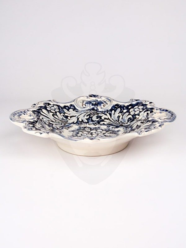 Centrotavola con manici monocolore blu diametro 38 fronte